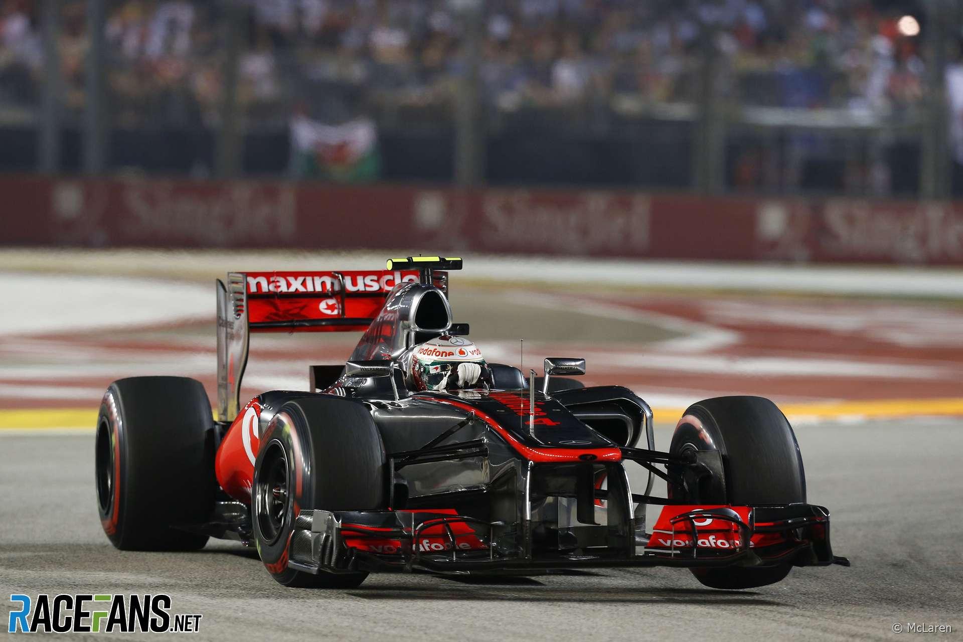 Lewis Hamilton, McLaren, Singapore, 2012