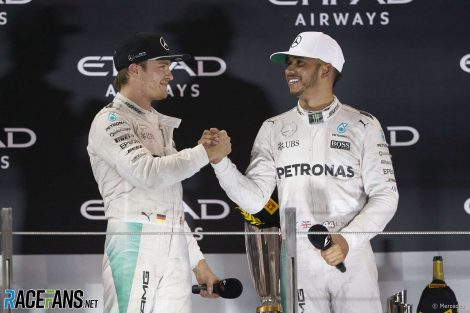 Nico Rosberg, Lewis Hamilton, Mercedes, Yas Marina, 2016