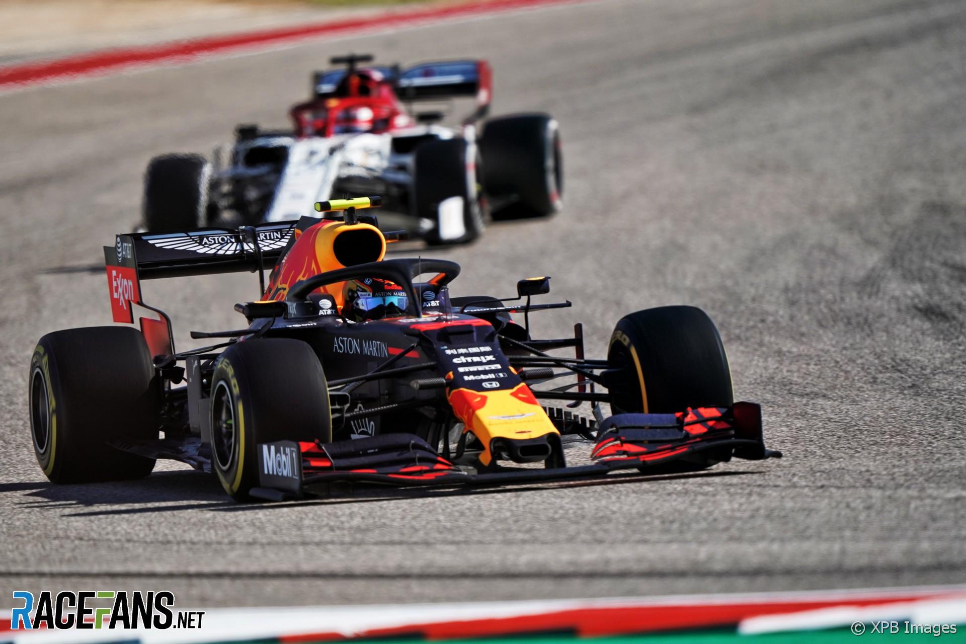 Alexander Albon, Red Bull, Circuit of the Americas, 2019