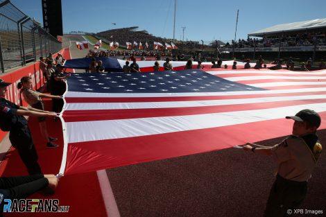 USA flag, Circuit of the Americas, 2019