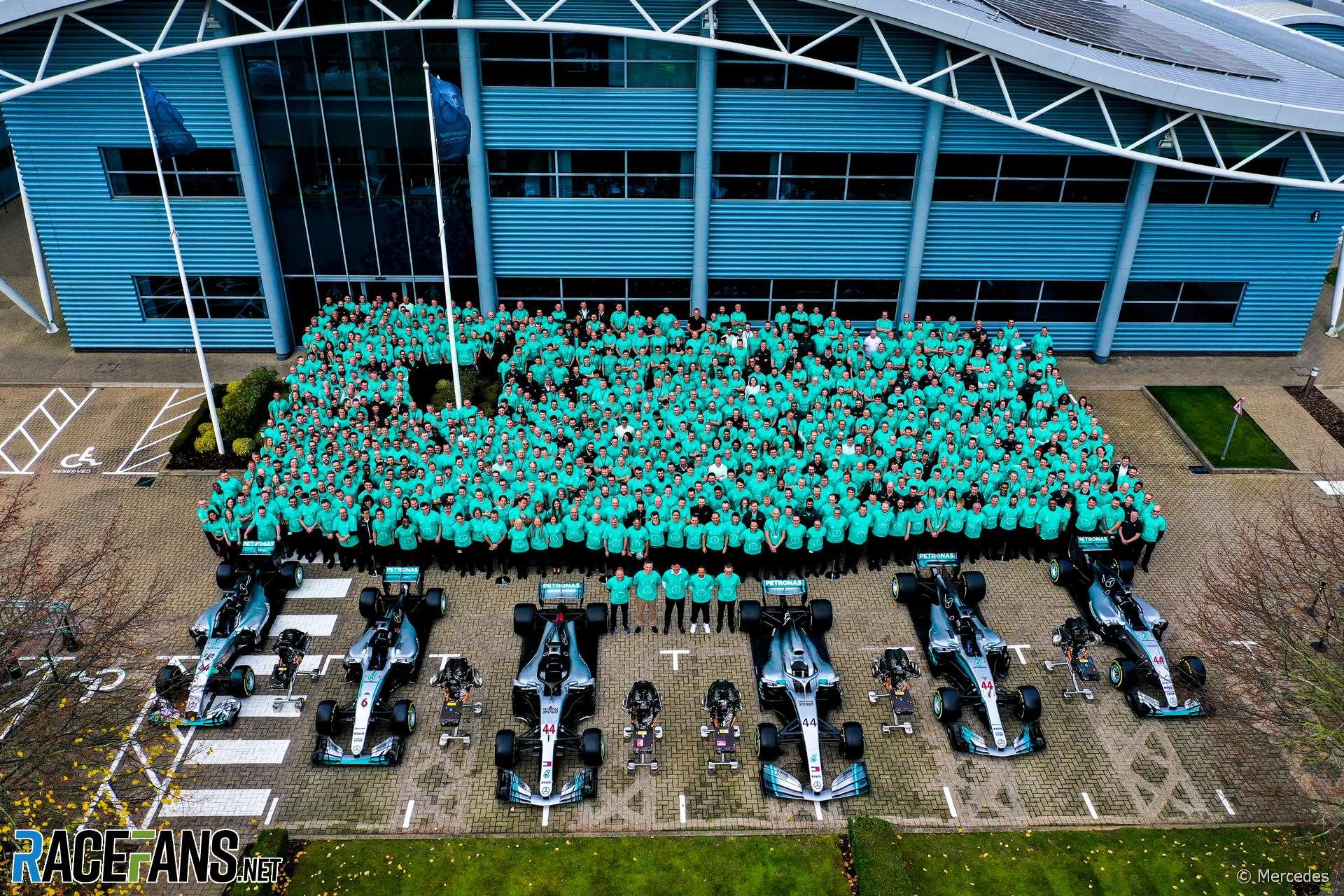 Mercedes' sixth world championship celebrations, 2019
