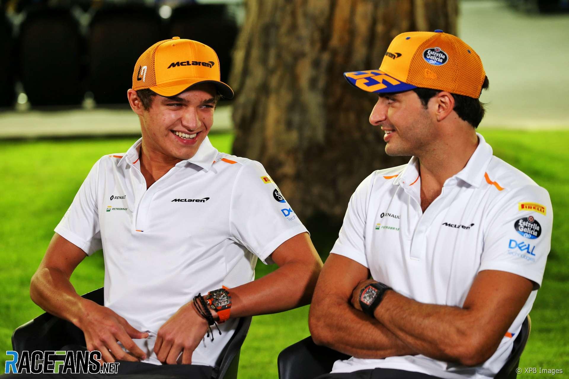Carlos Sainz Jnr, Landio Norris, McLaren, 2019