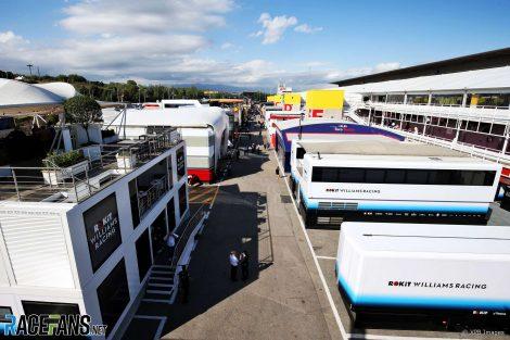 Paddock, Circuit de Catalunya, 2019