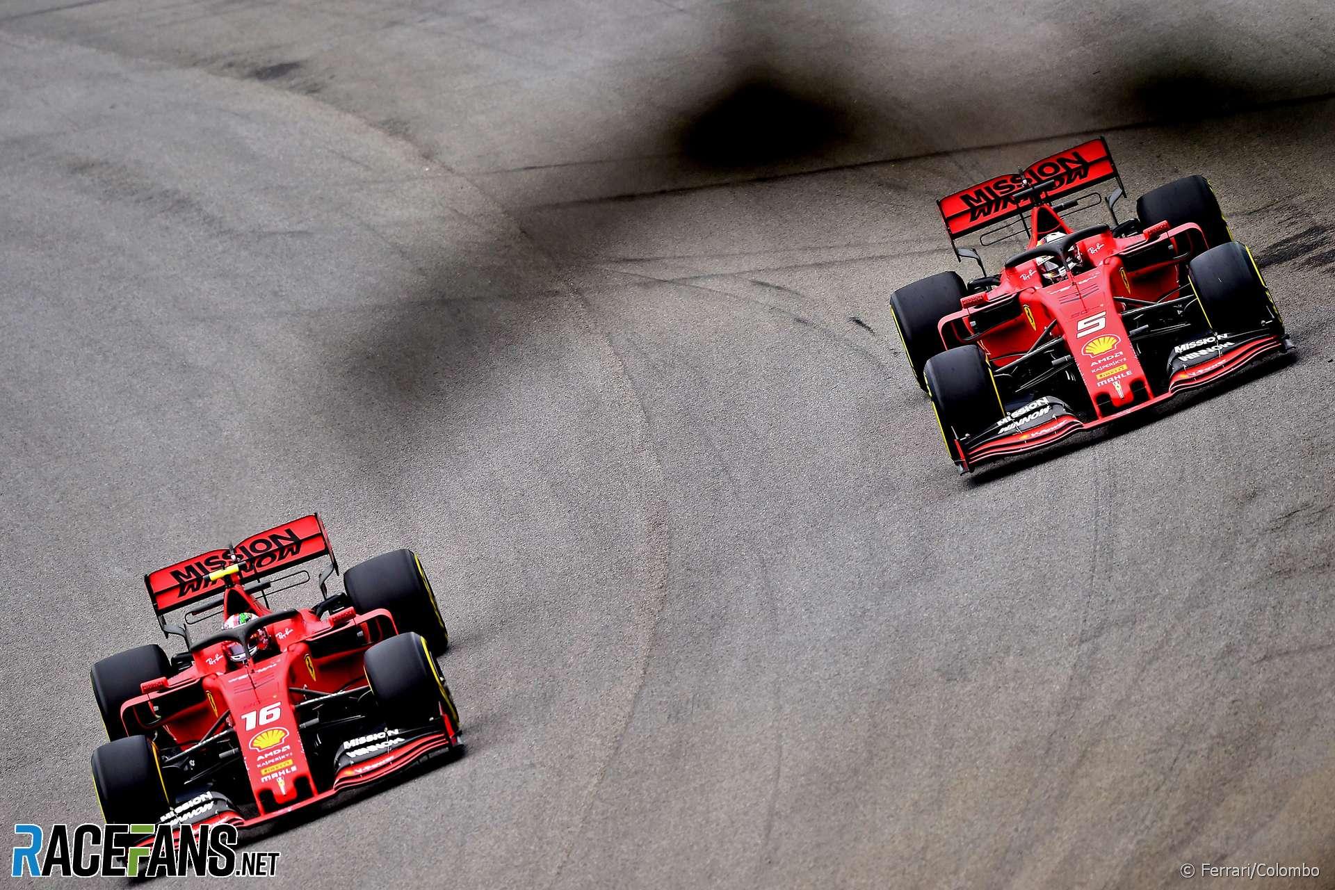 Charles Leclerc, Sebastian Vettel, Ferrari, Interlagos, 2019