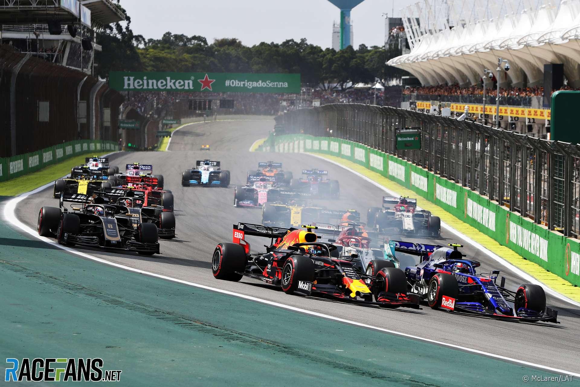 Start, Interlagos, 2019 · RaceFans