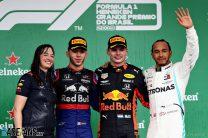 Pierre Gasly, Max Verstappen, Lewis Hamilton, Interlagos, 2019