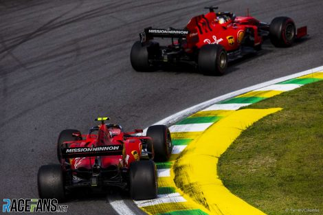 Sebastian Vettel, Charles Leclerc, Ferrari, Interlagos, 2019