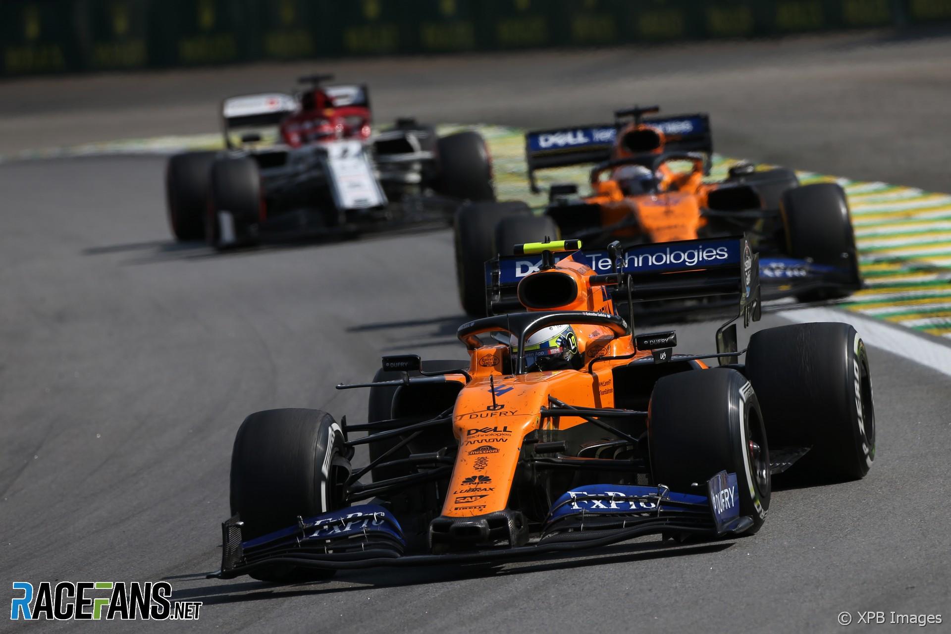 Lando Norris, McLaren, Interlagos, 2019