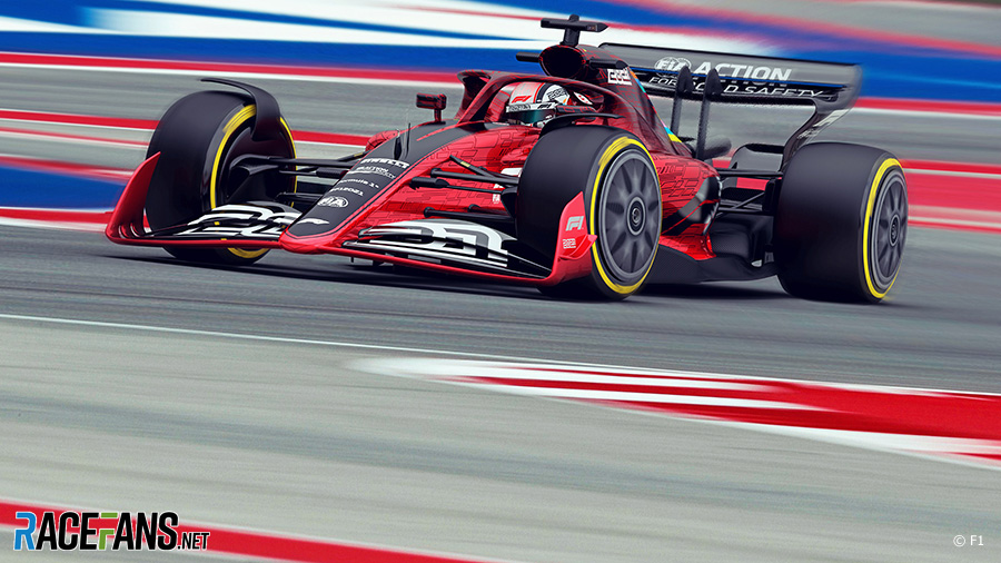 2021 F1 car rendering