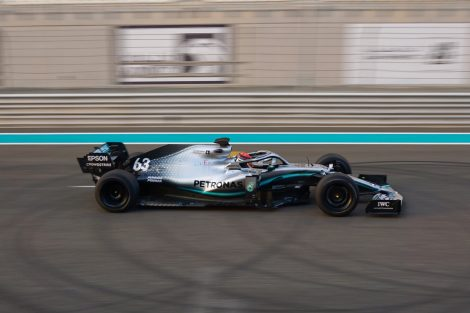 George Russell, Mercedes, Yas Marina, 2020