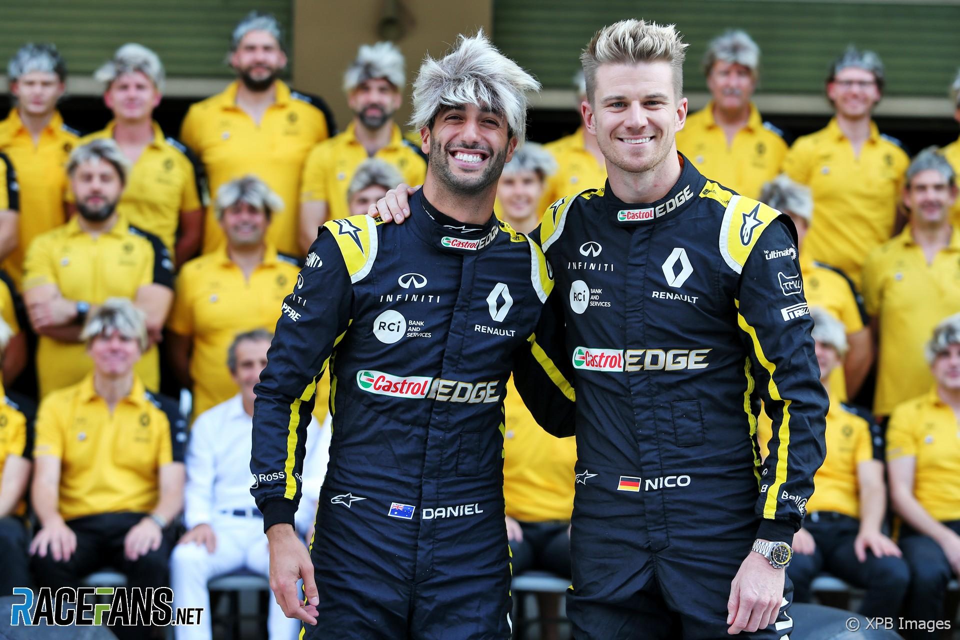 Daniel Ricciardo, Nico Hulkenberg, Renault, Yas Marina, 2019