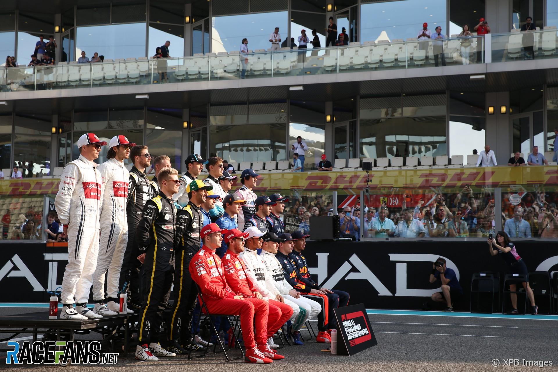 Drivers' end of season photograph, Yas Marina, 2019