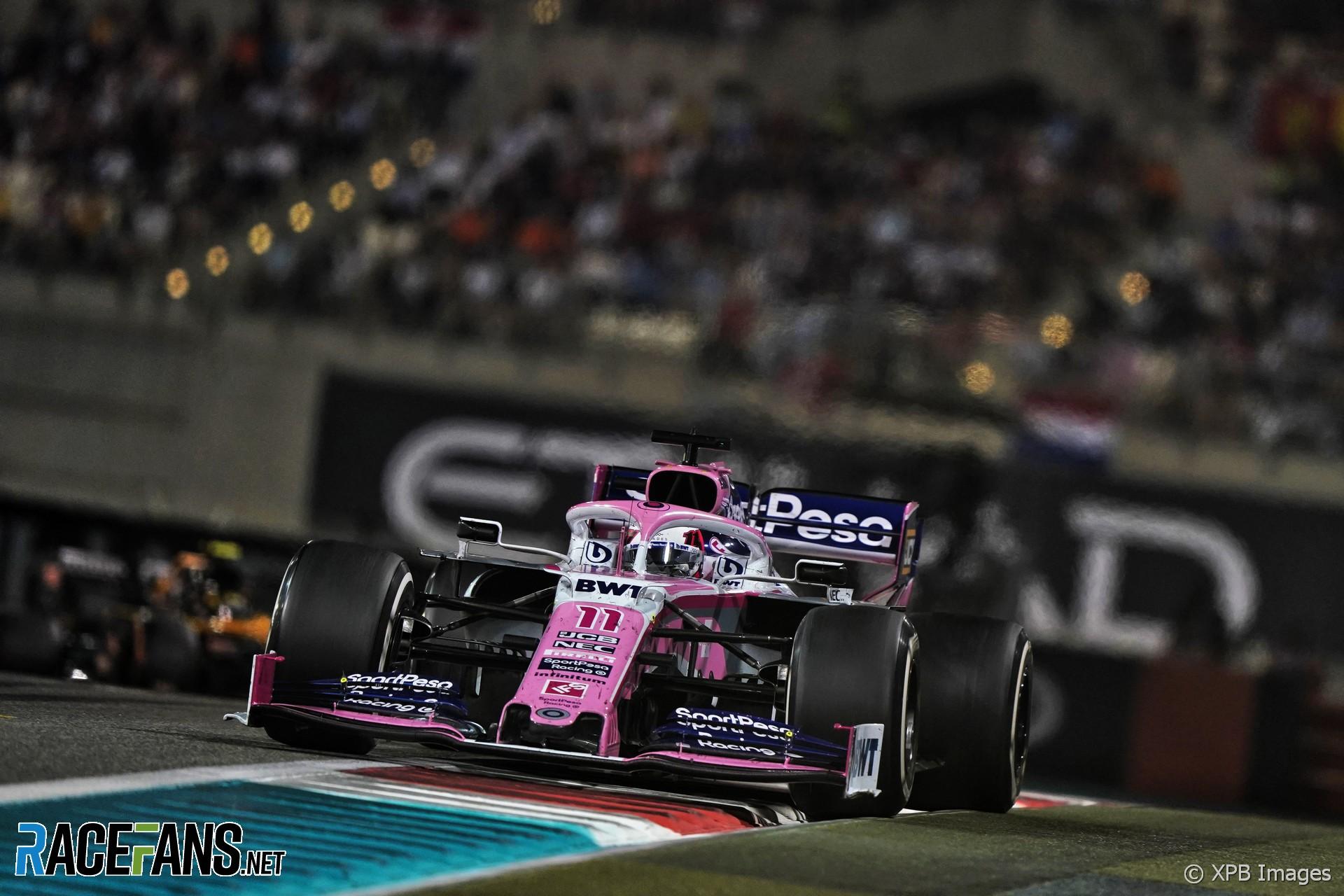 Sergio Perez, Racing Point, Yas Marina, 2019