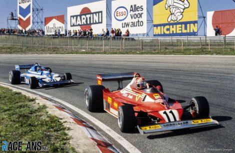 Start, Niki Lauda, Jacques Laffite, Zandvoort, 1977