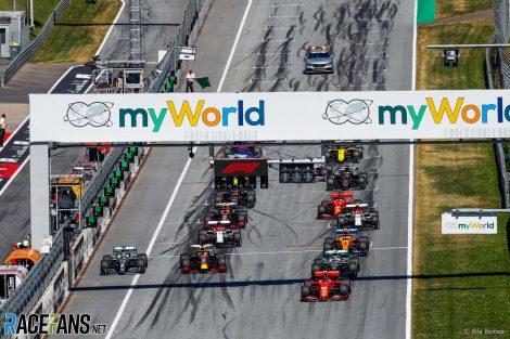 Start, 2020 Austrian Grand Prix, Red Bull Ring