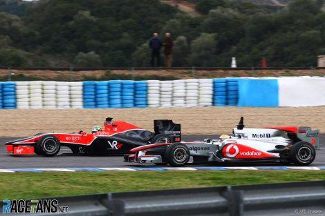 Lucas di Grassi, Lewis Hamilton, Jerez, 2010