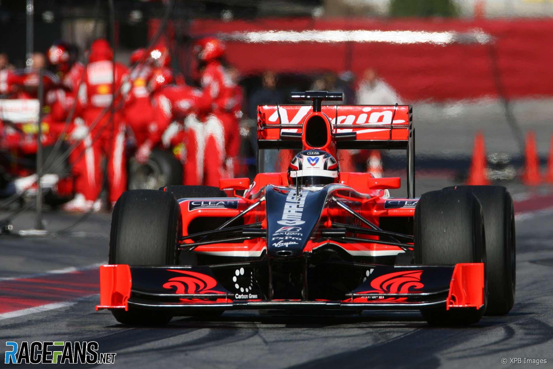 Timo Glock, Virgin, Circuit de Catalunya, 2010