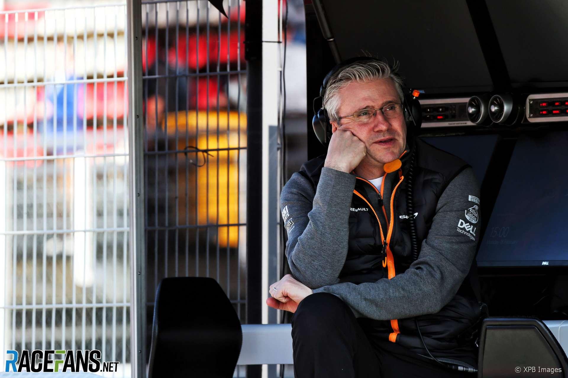 Pat Fry, McLaren, Circuit de Catalunya, 2019