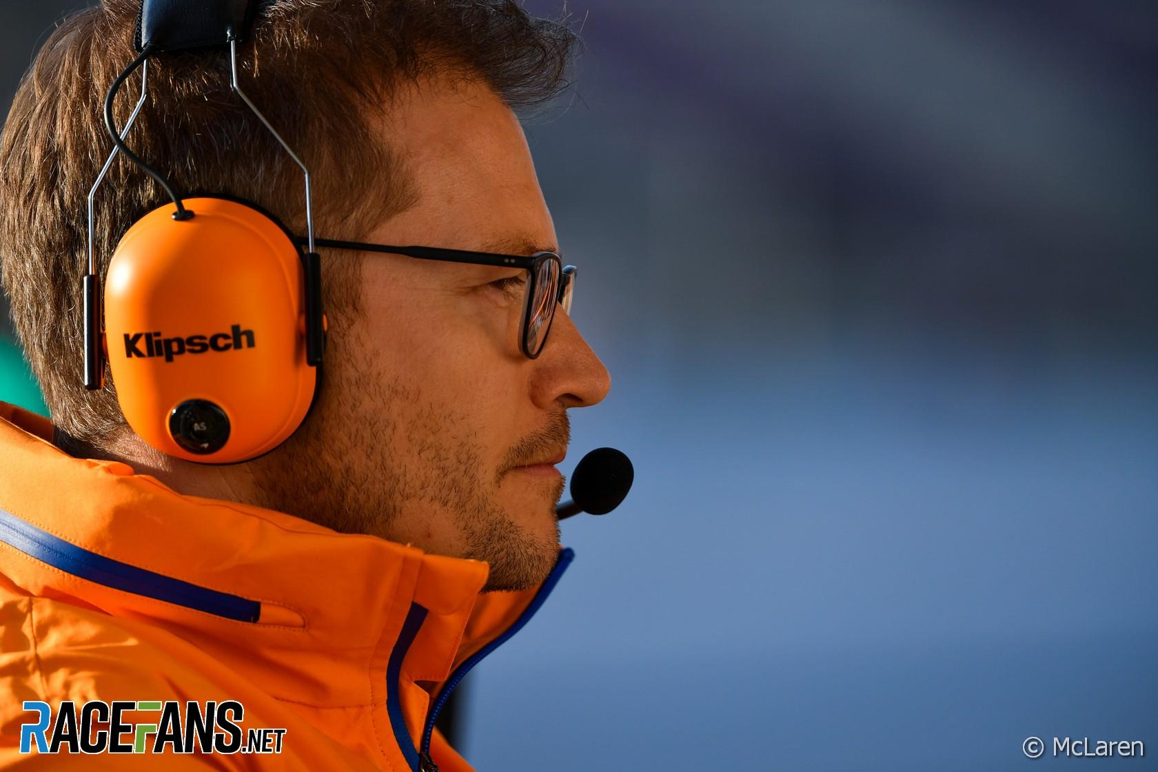 Andreas Seidl, McLaren, Circuit de Catalunya, 2020