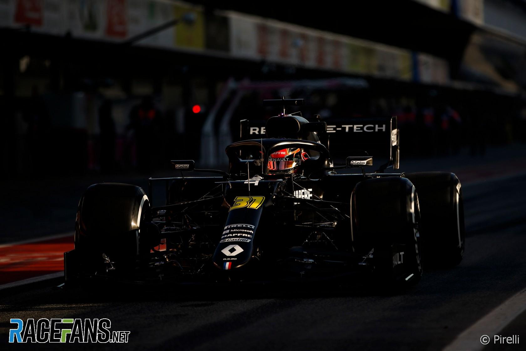 Esteban Ocon, Renault, Circuit de Catalunya, 2020