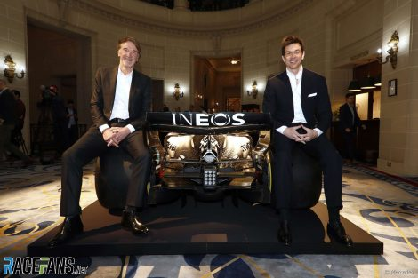 Mercedes Ineos branding, Royal Automobile Club, 2020