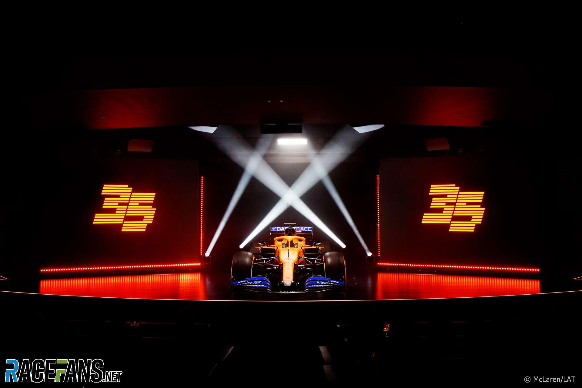 McLaren MCL35 launch. McLaren Technology Centre, 2020