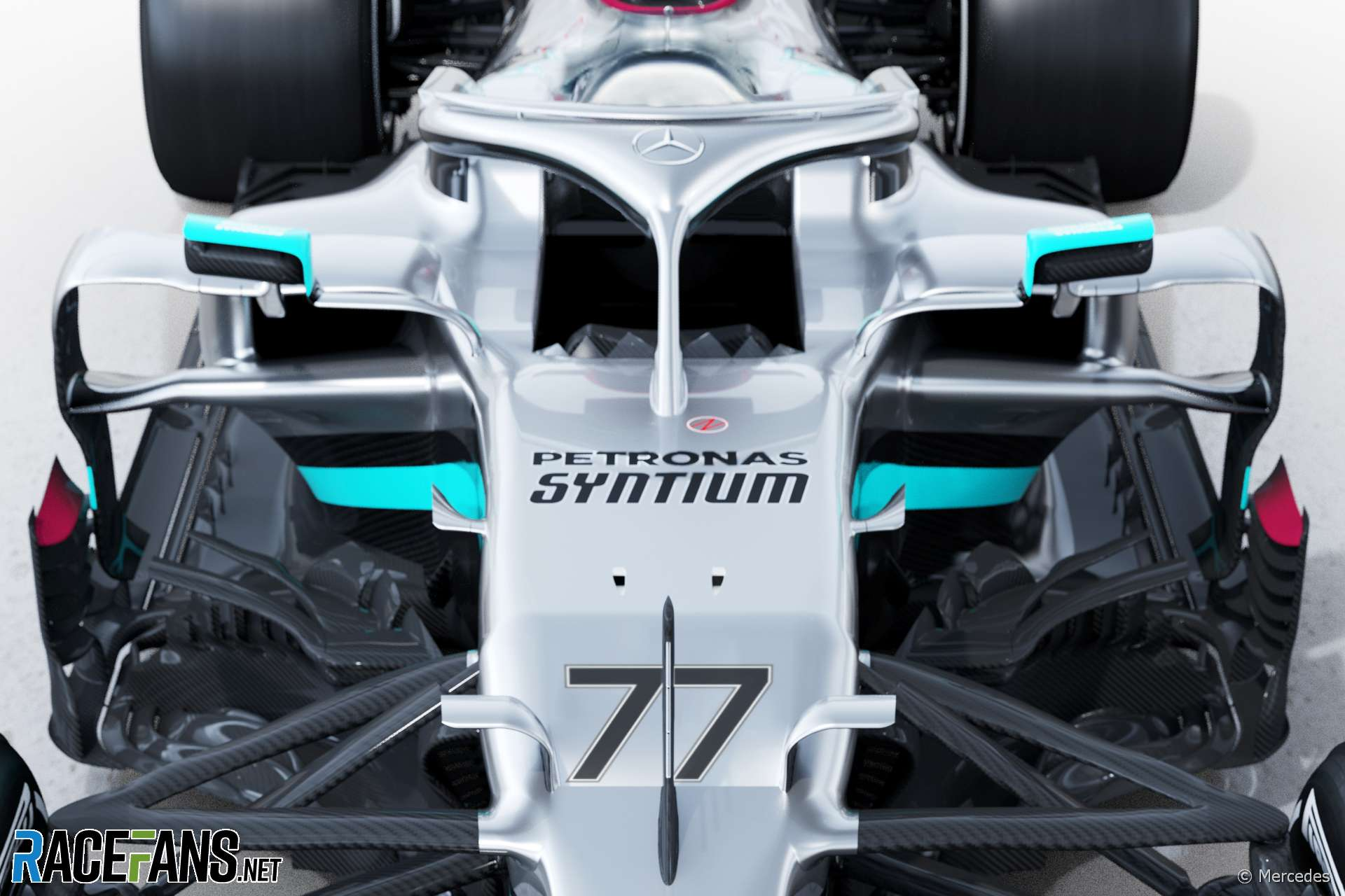 "New Mercedes adopts rivals' sidepod design but features ""adventurous"" new suspension · RaceFans"