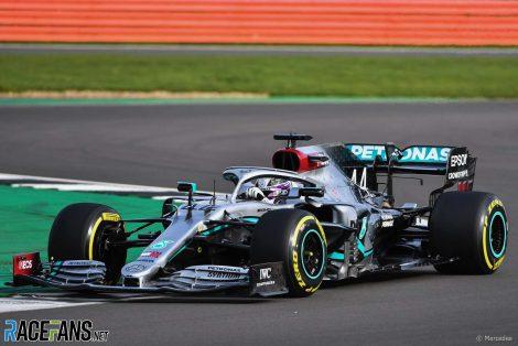 Lewis Hamilton, Mercedes, W11 launch, Silverstone, 2020