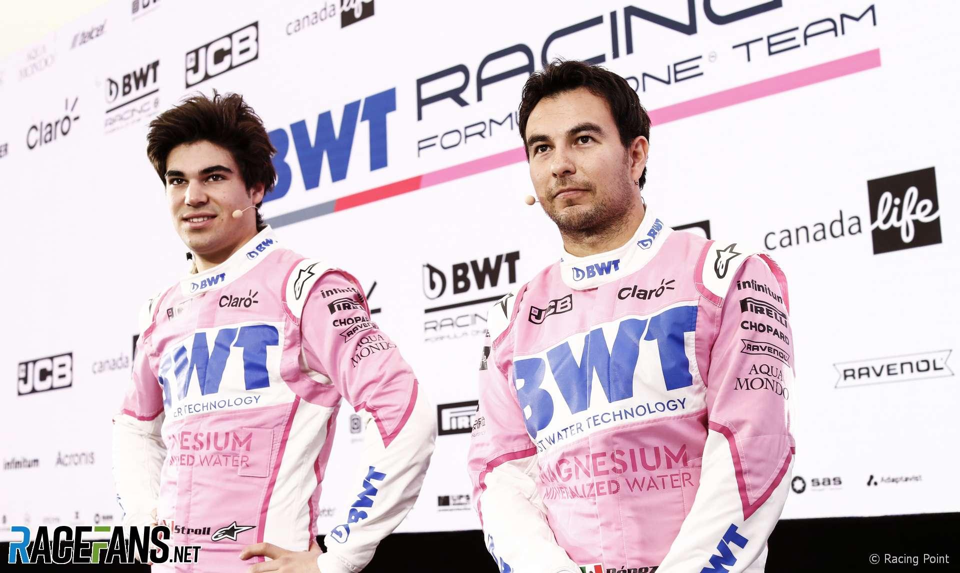 Lance Stroll, Sergio Perez, Racing Point, 2020