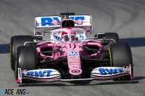 Racing Point beat their fastest lap time from 2019 in the first two hours of testing