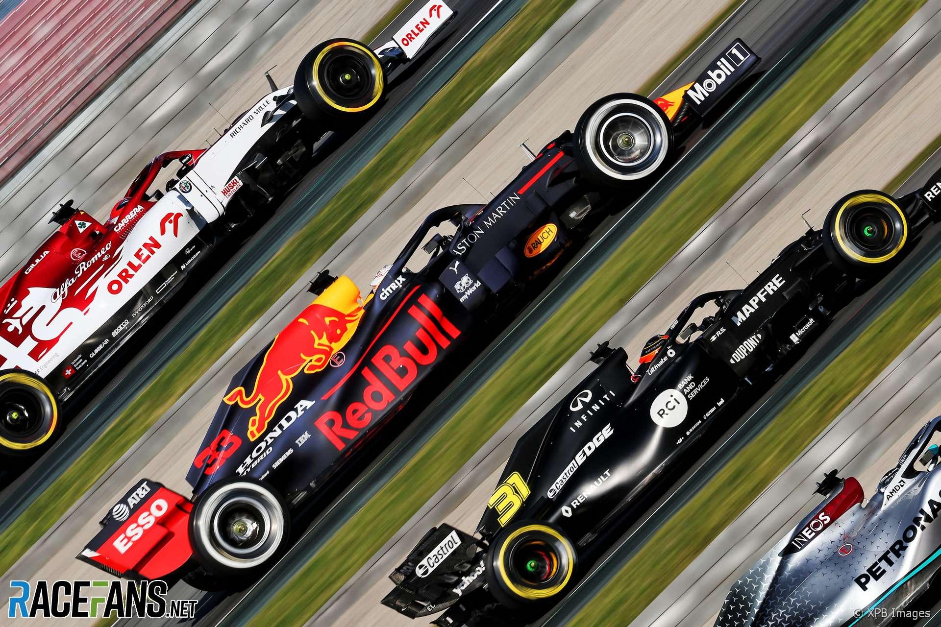 F1 cars testing, 2020