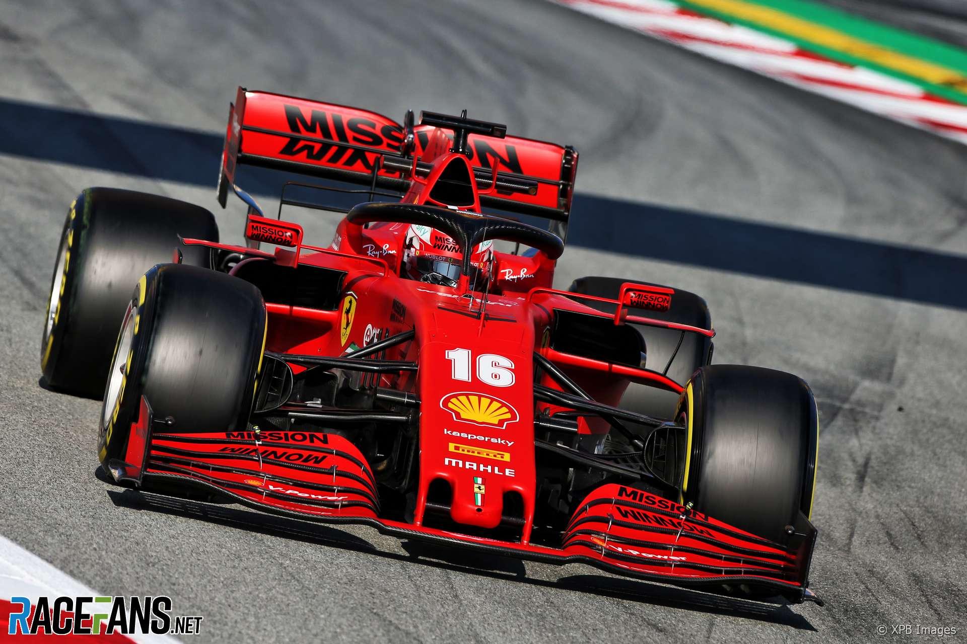 Charles Leclerc, Ferrari, Circuit de Catalunya, 2020 ...