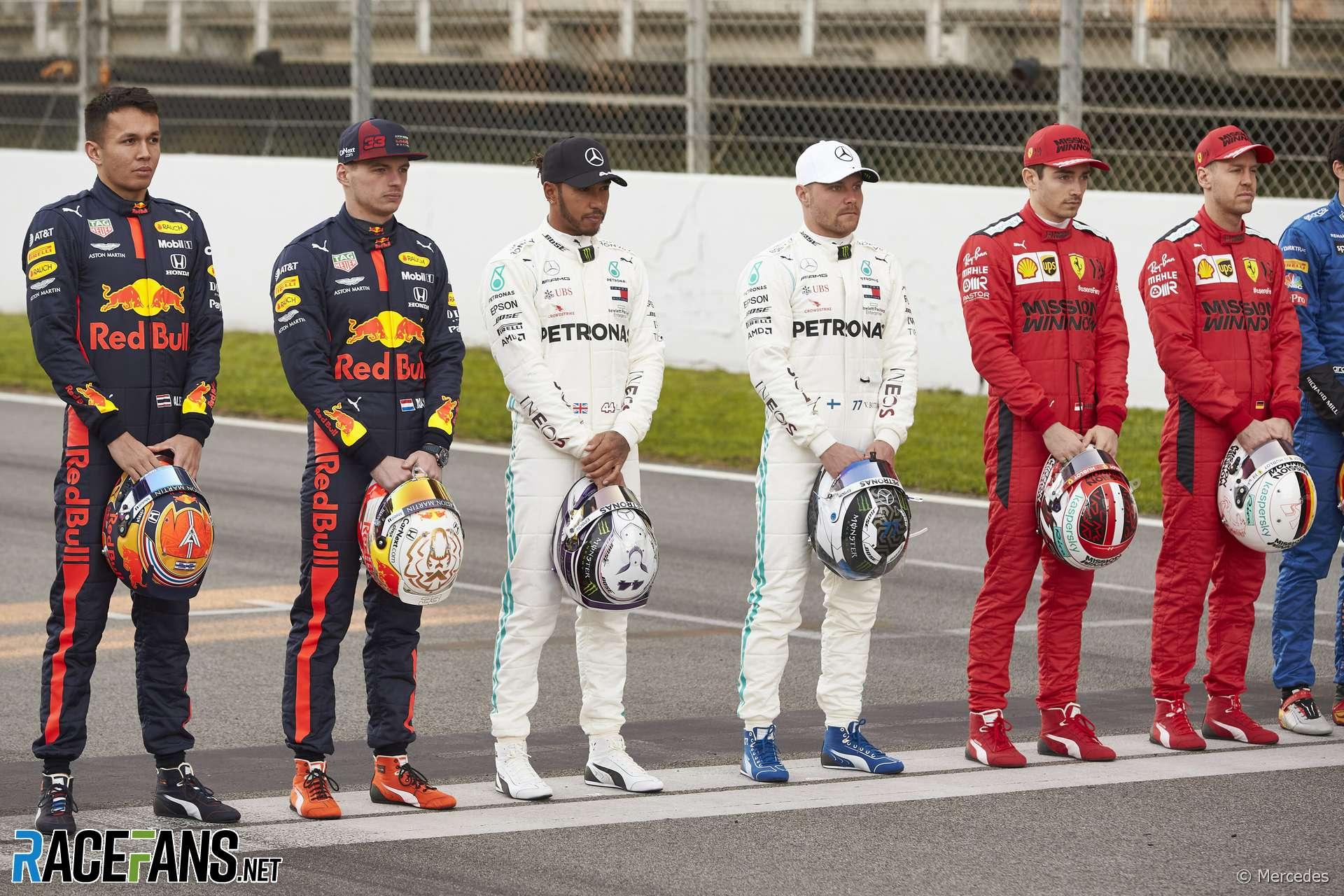 Drivers, Mercedes, Circuit de Catalunya, 2020