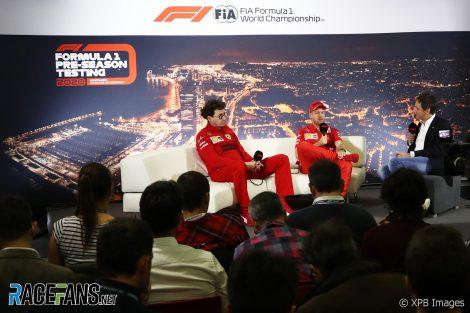 Mattia Binotto, Sebastian Vettel, Circuit de Catalunya, 2020