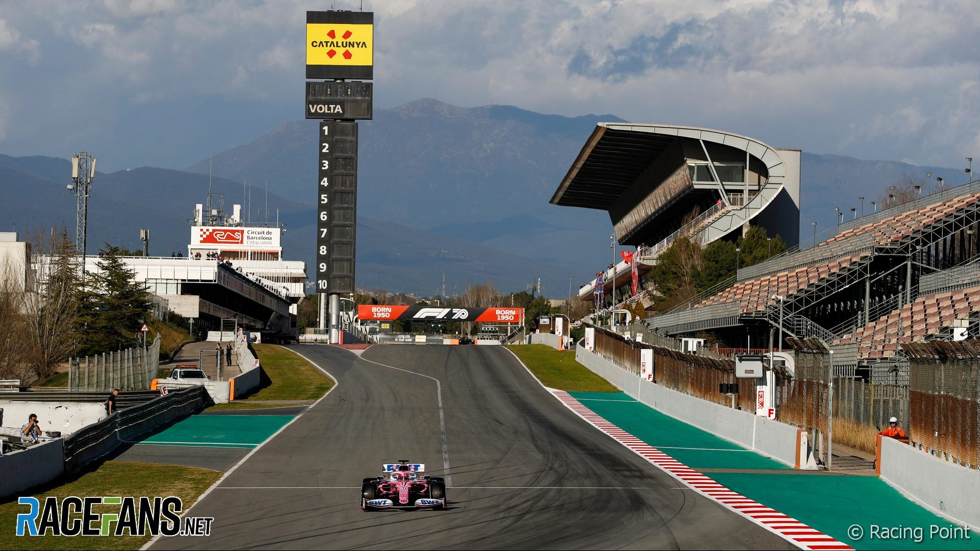 Sergio Perez, Racing Point, Circuit de Catalunya, 2020