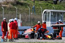 Verstappen says he didn't see damp patch which caused spin