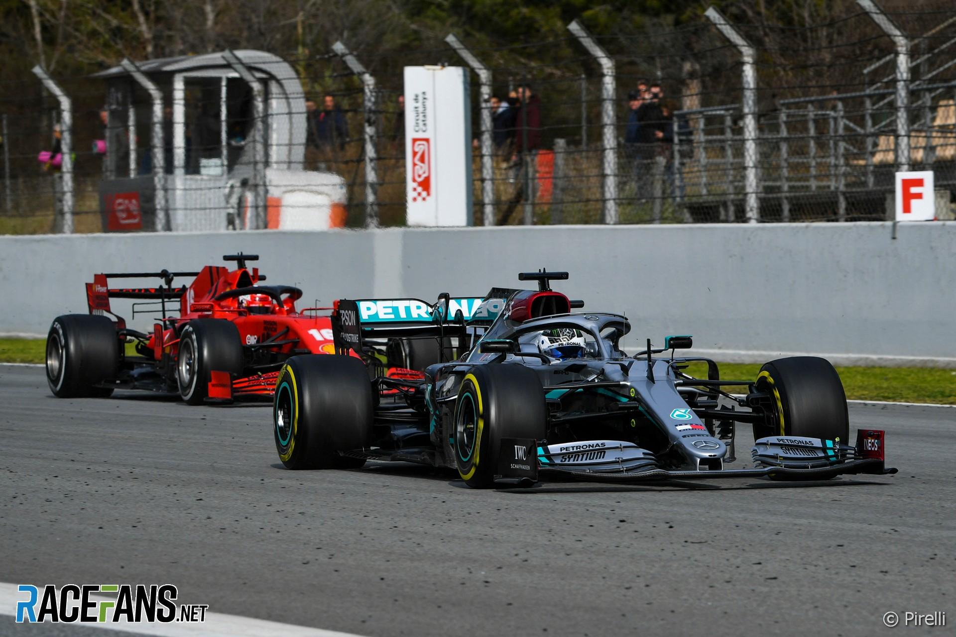 Valtteri Bottas, Mercedes, Charles Leclerc, Ferrari, Circuit de Catalunya, 2020