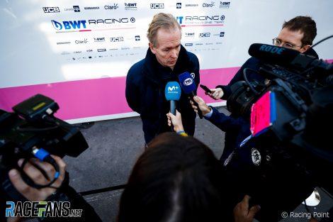 Andrew Green, Racing Point, Circuit de Catalunya, 2020