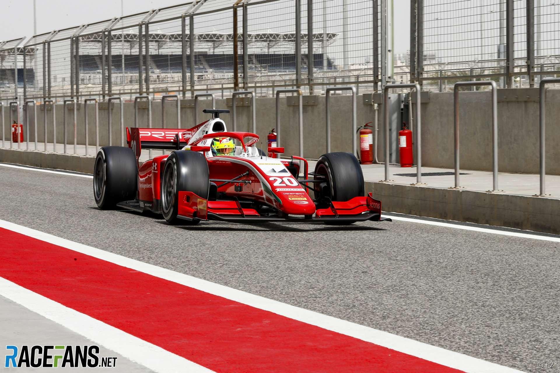 In Pictures Ferrari F1 Junior Mick Schumacher Testing For Prema In Bahrain F2 Pre Season Test