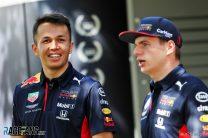 Alexander Albon, Max Verstappen,, Red Bull, Albert Park, 2020