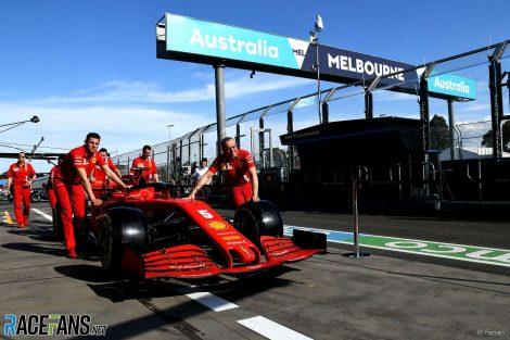 Ferrari, Albert Park, Melbourne, 2020