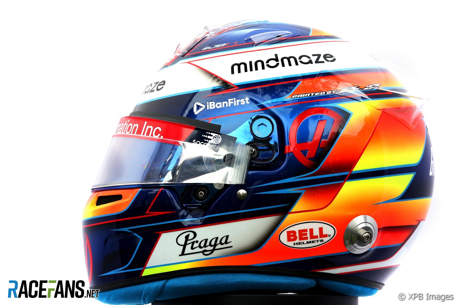 Romain Grosjean 2020 helmet