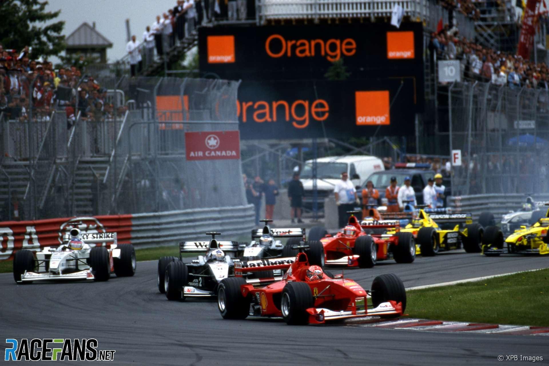 Start, Circuit Gilles Villeneuve, 2000