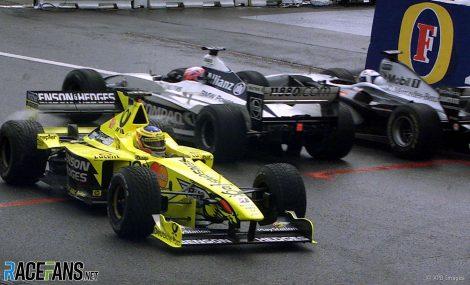 Jarno Trulli, Jenson Button, David Coulthard, Spa-Francorchamps, 2000