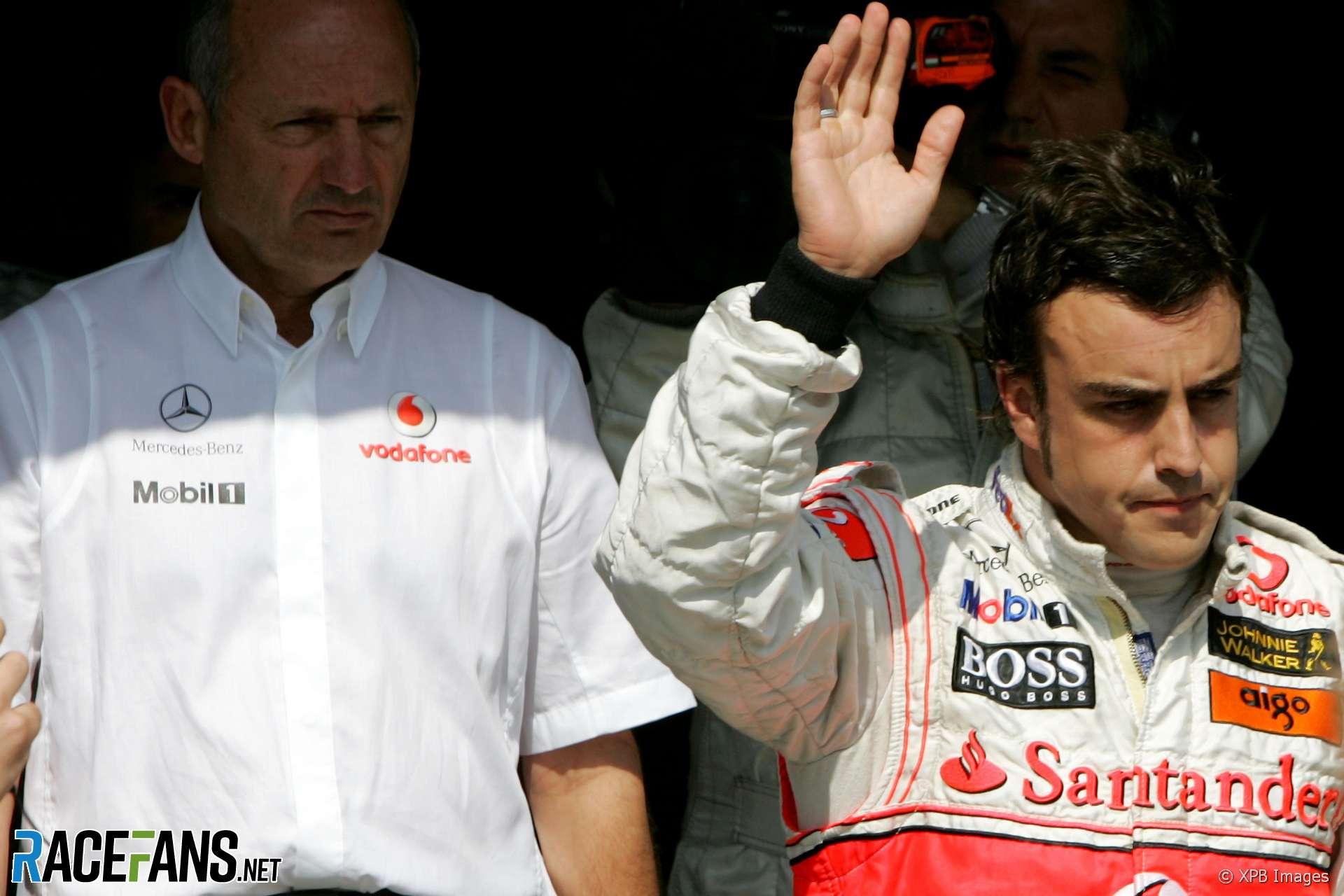 Ron Dennis, Fernando Alonso, McLaren, 2007