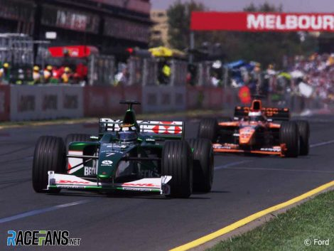 Eddie Irvine, Jaguar, Melbourne, 2000