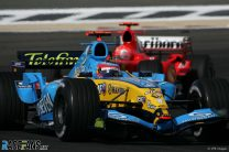 Alonso cruises to victory as Schumacher drops out