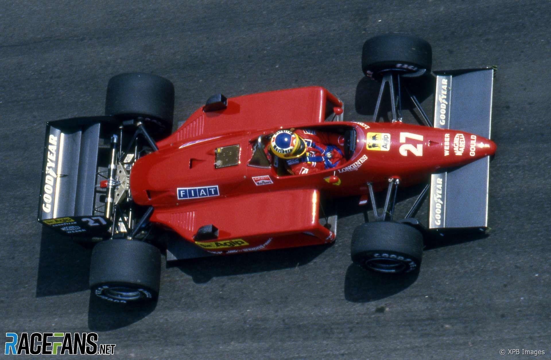 Michele Alboreto, Ferrari, Jacarepagua, 1985