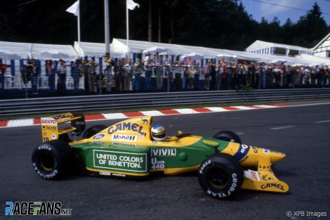 Michael Schumacher, Benetton, Spa-Francorchamps, 1992