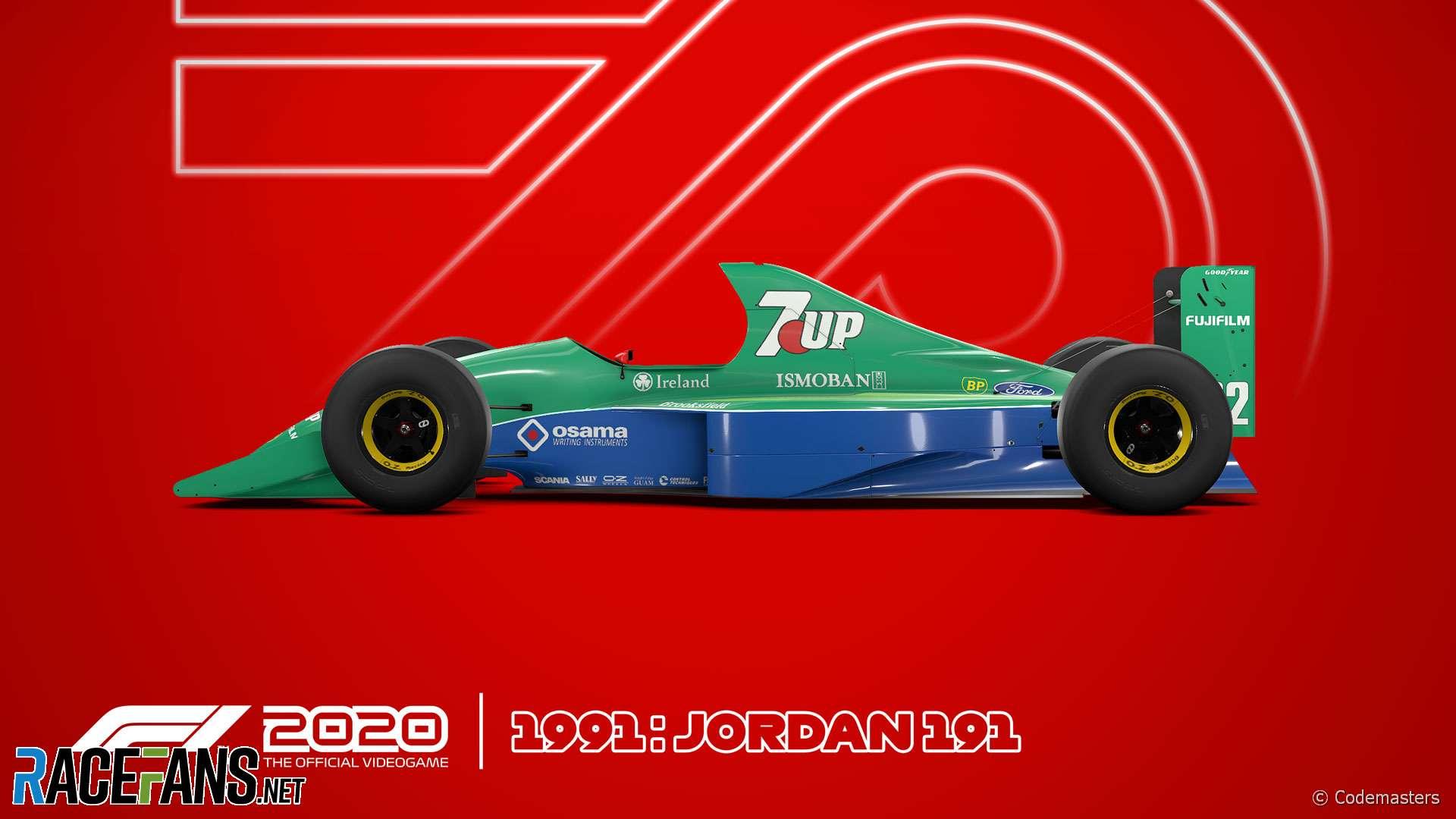 Jordan 191 F1 2020 car model